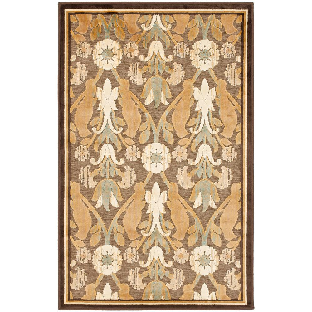 Paradise Brown 2 ft. 7 in. x 4 ft. Area Rug