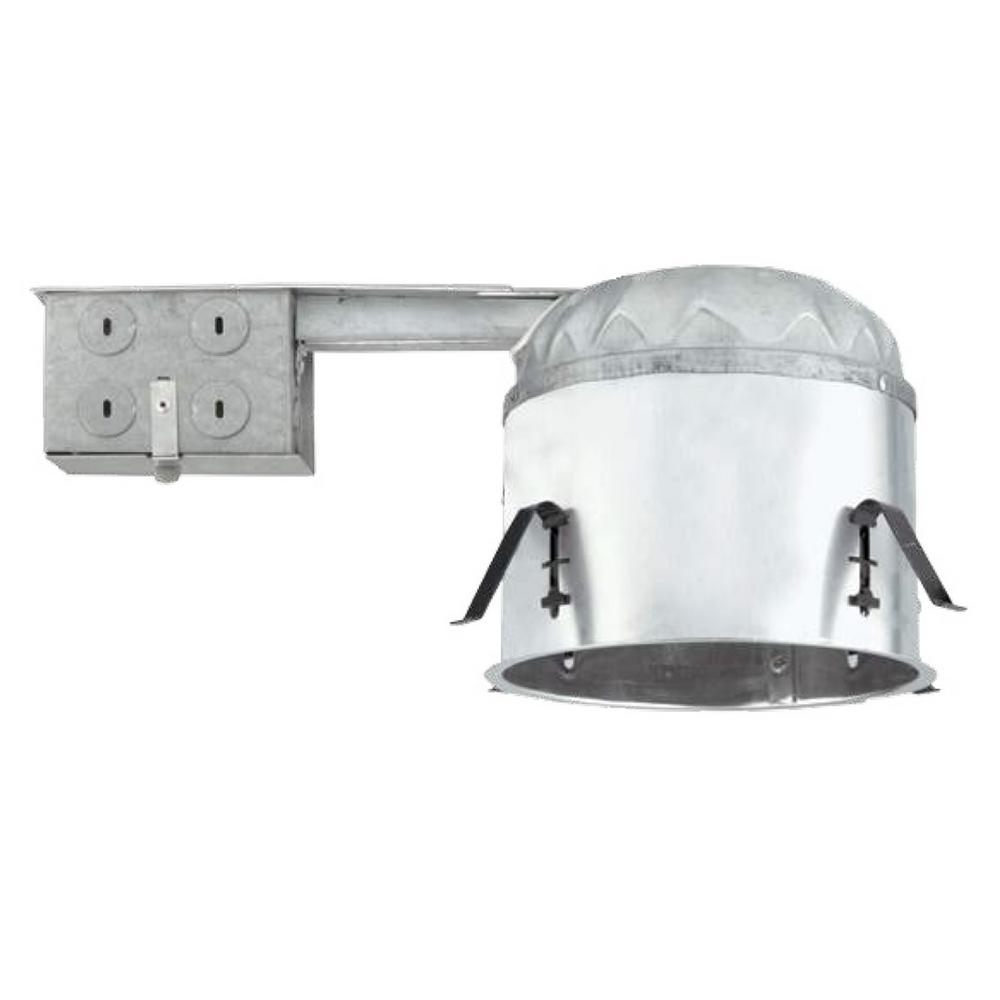 Aluminum LED Recessed Remodel Shallow Housing IC-Rated Airtight IDEAL  sc 1 st  Home Depot & NICOR 6 in. Aluminum LED Recessed Remodel Shallow Housing IC-Rated ...