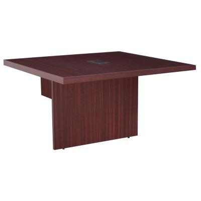 Magons Mahogany 48 in. Modular Conference Table Extension with Power Data Grommet