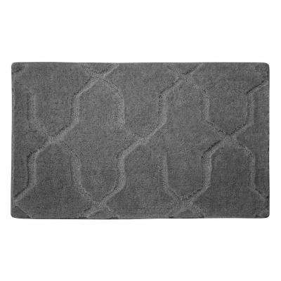 Pearl Drona Light Gray 20 in. x 32 in. Bath Mat