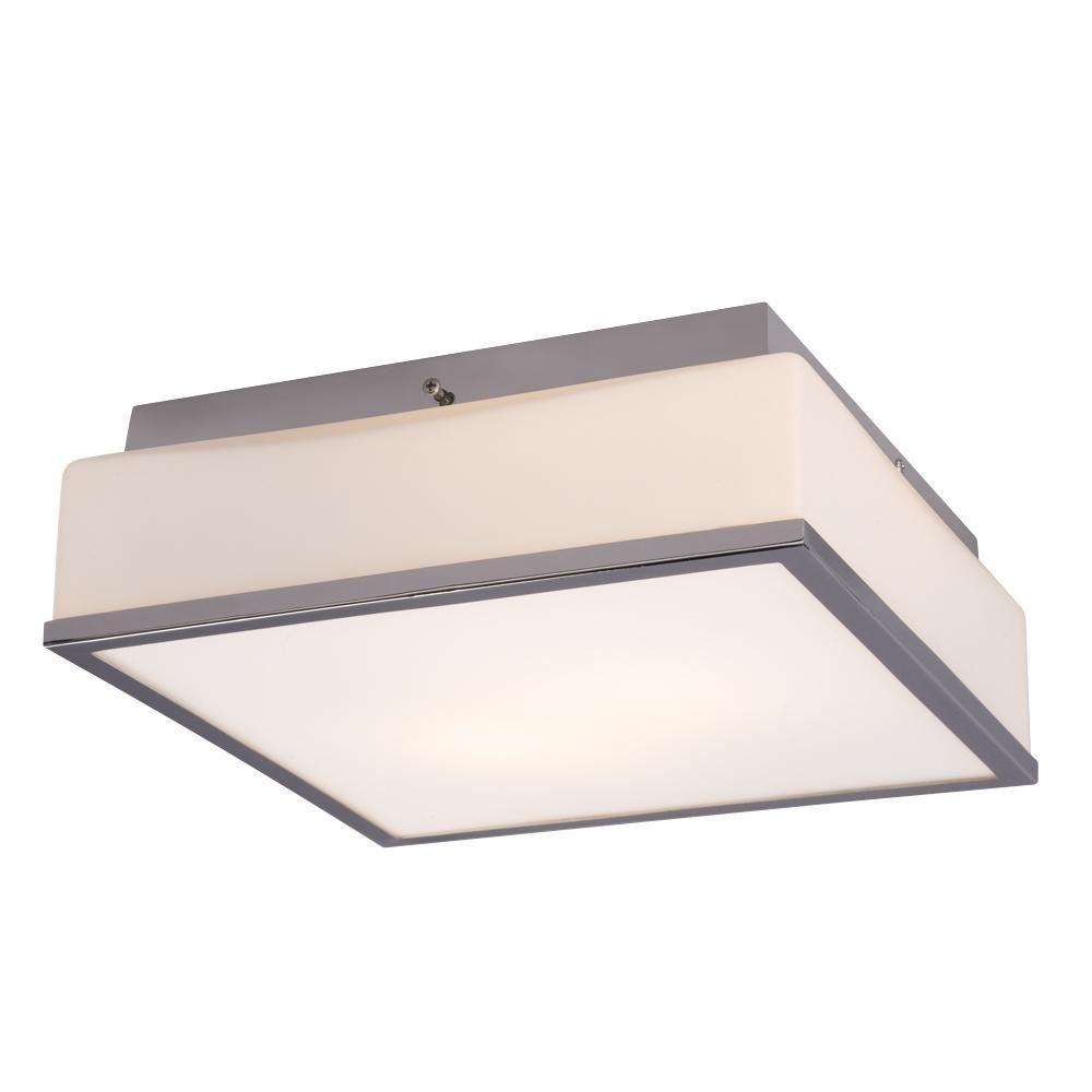 Devane 2-Light Chrome Flushmount