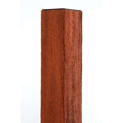 4 in. x 4 in. x 96 in. Heartwood Composite Fence Post with Solid Wood Insert