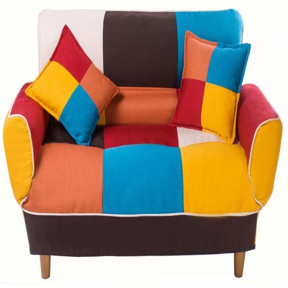 Sofa 71.6 in. W Red Fabric 2 seats Sleeper Sofa with Convertible
