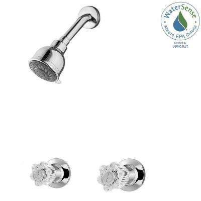 Bedford 2-Handle 3-Spray Shower Faucet in Polished Chrome (Valve Included)