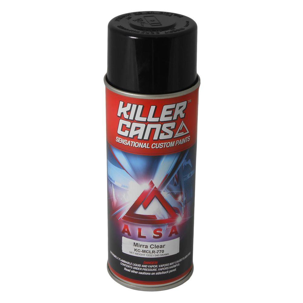 Alsa Refinish 12 Oz Mirraclear Killer Cans Spray Paint Kc Mclr The Home Depot