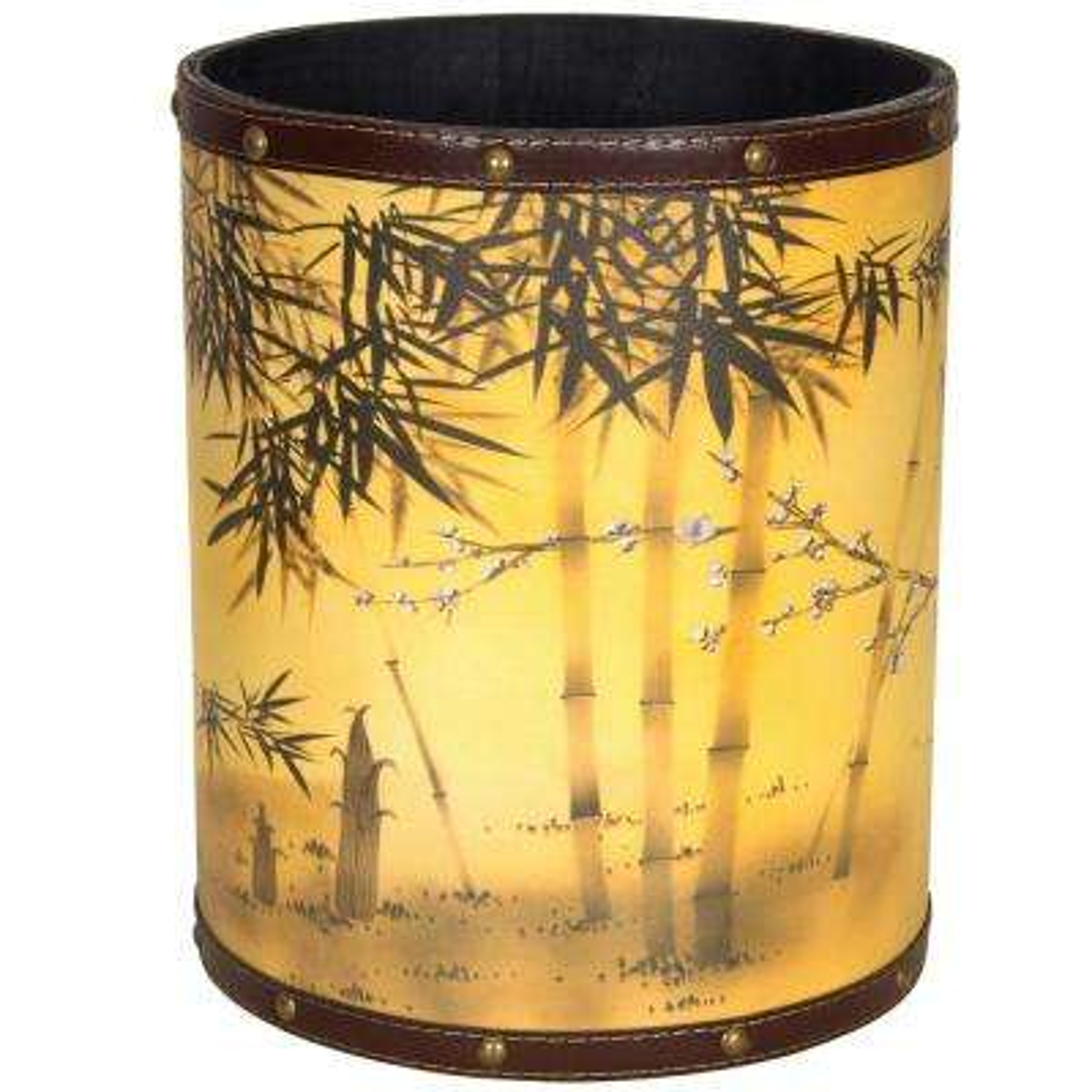 Oriental Furniture 8.25 in. x 10 in. Bamboo Tree Waste Basket