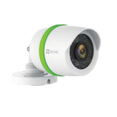 1080p Single Bullet Camera for Home Security System with 60 ft. Network Cable