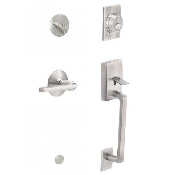 Latitude Satin Nickel Century Trim Single Cylinder Handleset Lever