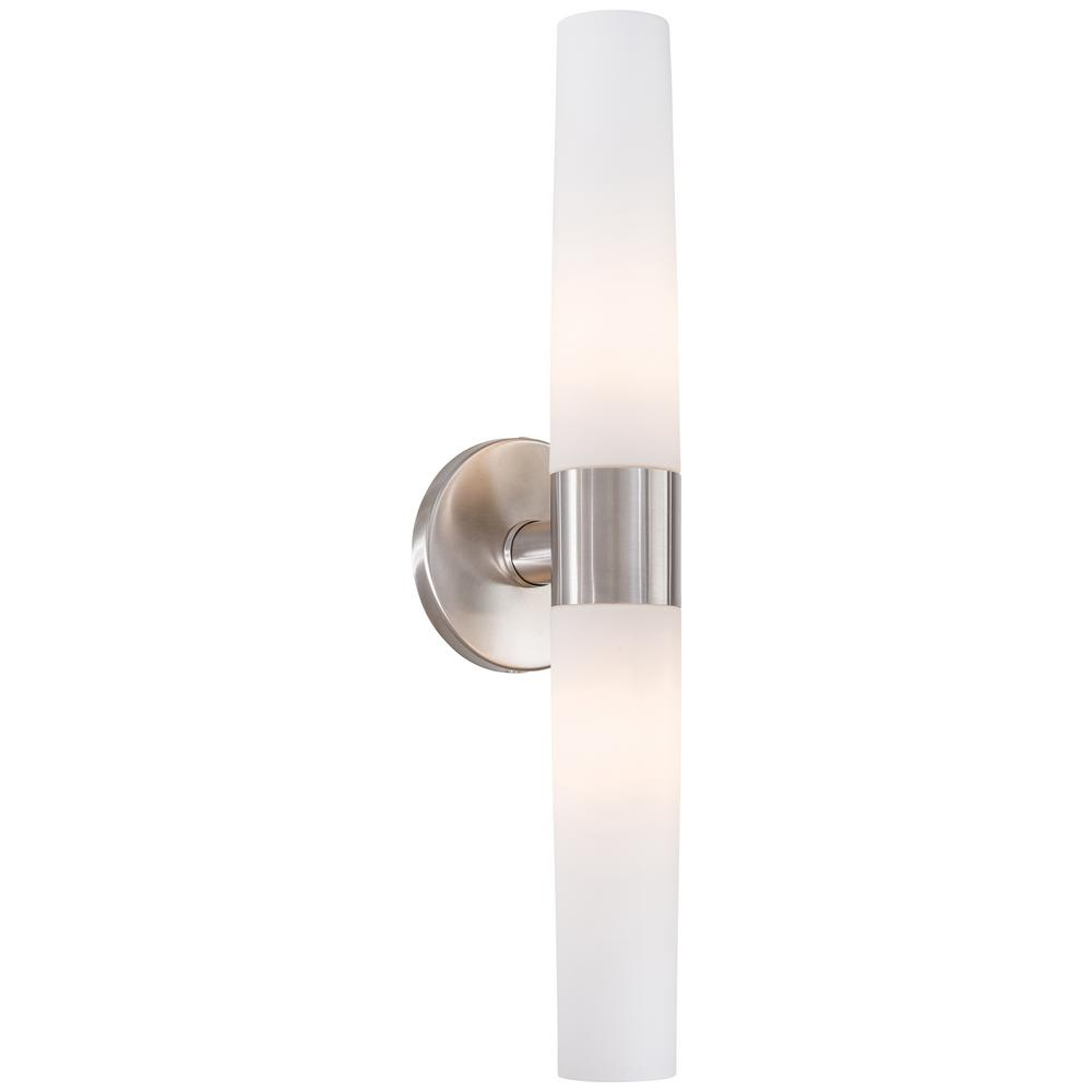 Saber 2-Light Brushed Stainless Steel Wall Sconce