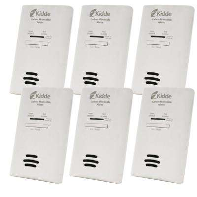 Plug-In Carbon Monoxide Alarm with Battery Backup (6-Pack)