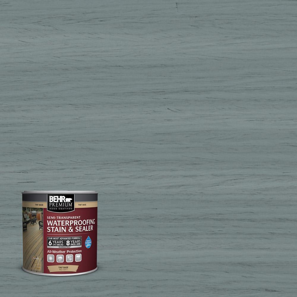 BEHR Premium 8 oz. #ST125 Stonehedge Semi-Transparent Waterproofing Stain and Sealer Sample