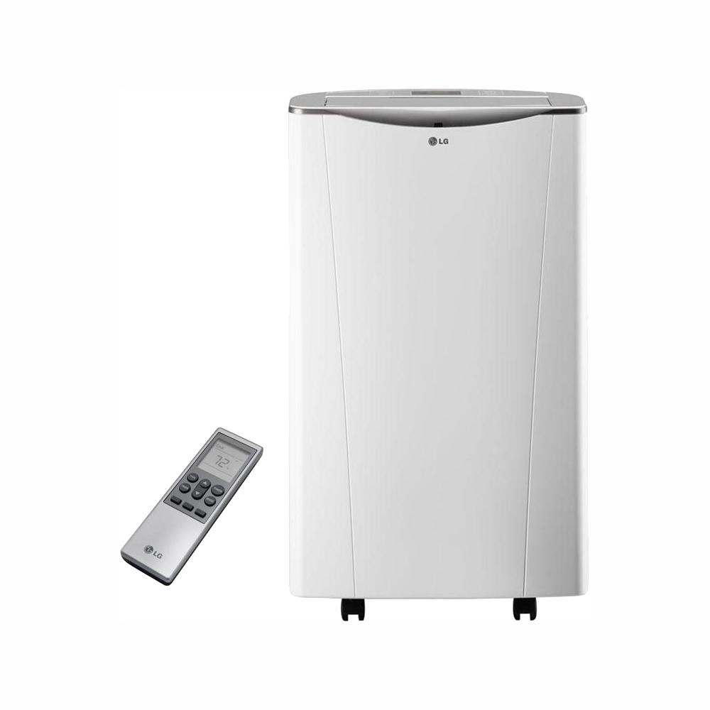 LG Electronics Smart 14,000 BTU Portable Air Conditioner and Dehumidifier  Function w/ Wi-Fi and Remote Control in White (81 6 pt /Day)