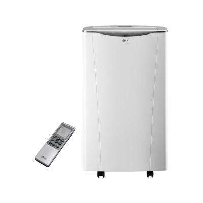 Smart 14,000 BTU Portable Air Conditioner and Dehumidifier Function w/ Wi-Fi and Remote Control in White (81.6 pt./Day)