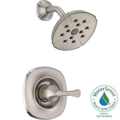 Addison 1-Handle 1-Spray Shower Faucet Trim Kit Only in Stainless Featuring H2Okinetic (Valve Not Included)