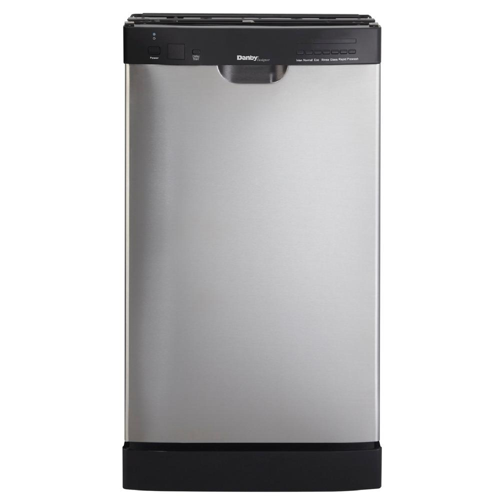Danby 18 in. Front Control Dishwasher in Stainless Steel with ...