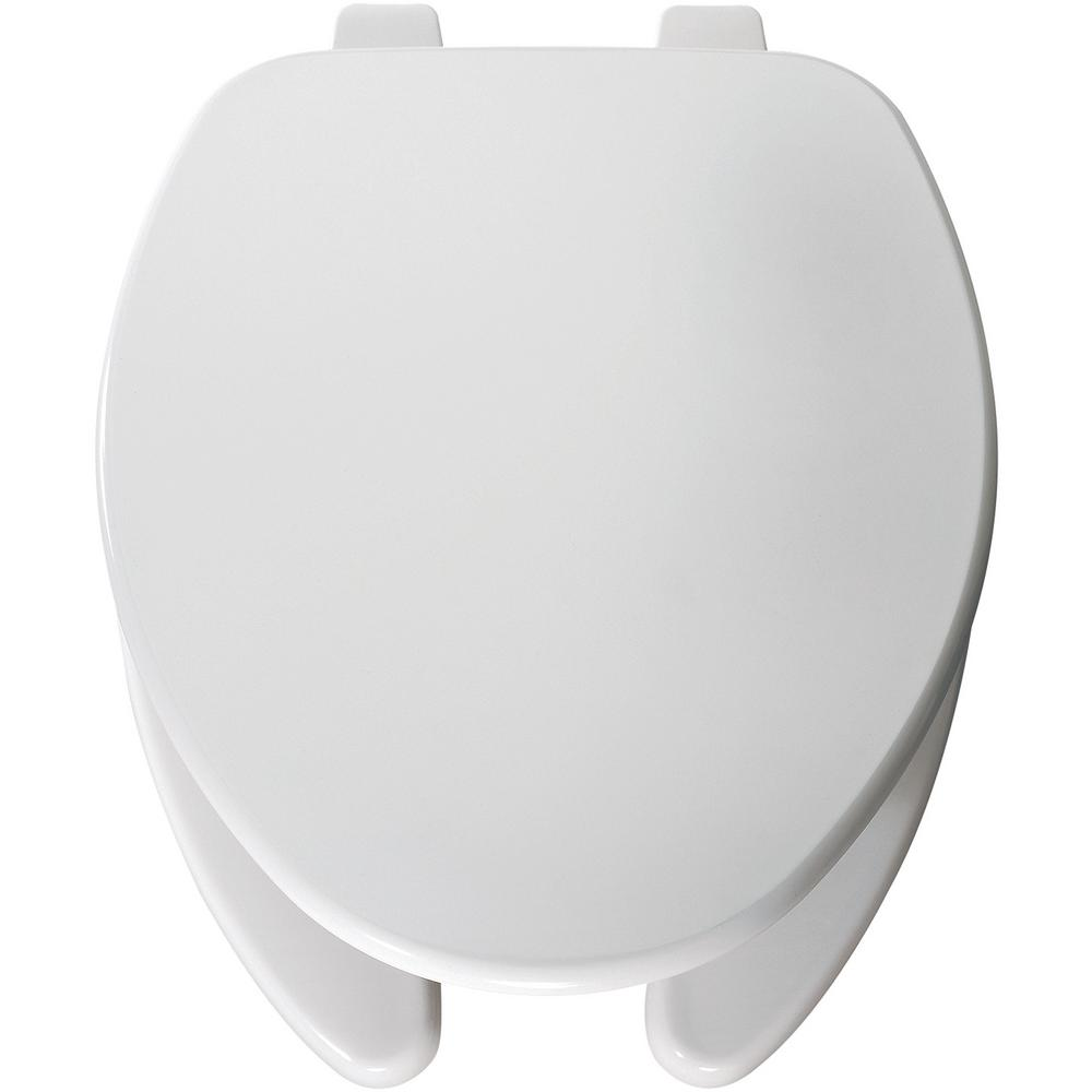 Church Elongated Open Front Toilet Seat In White 595ttt