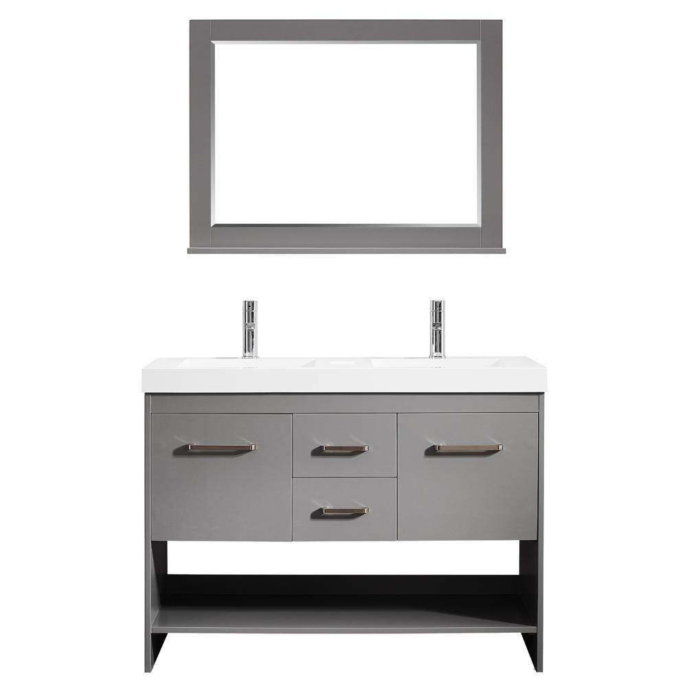 Superb Siena 48 In. W X 21 In. D Vanity In Grey With Acrylic Vanity