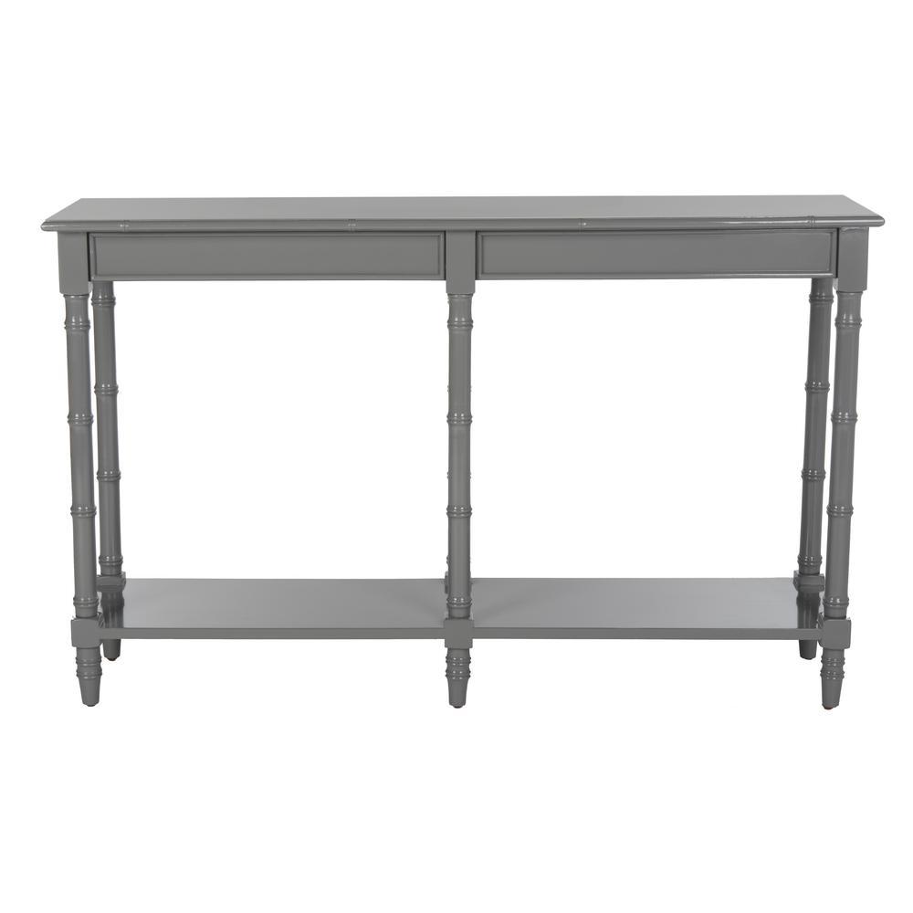 Noam Gray Bamboo Console Table