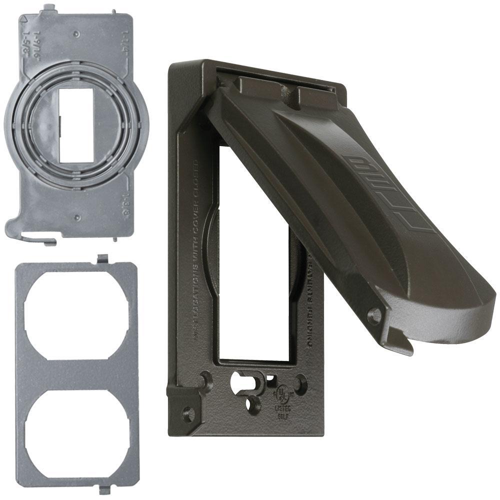 1-Gang Horizontal/Vertical Weatherproof Universal Device Flip Lid Covers