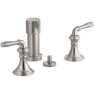 Devonshire 2-Handle Bidet Faucet in Vibrant Brushed Nickel with Vertical Spray