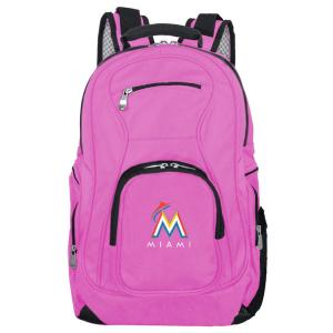 MLB Miami Marlins 19 in. Pink Laptop Backpack