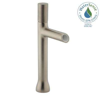 Toobi Single Hole Single Handle Water-Saving Bathroom Faucet in Vibrant Brushed Nickel
