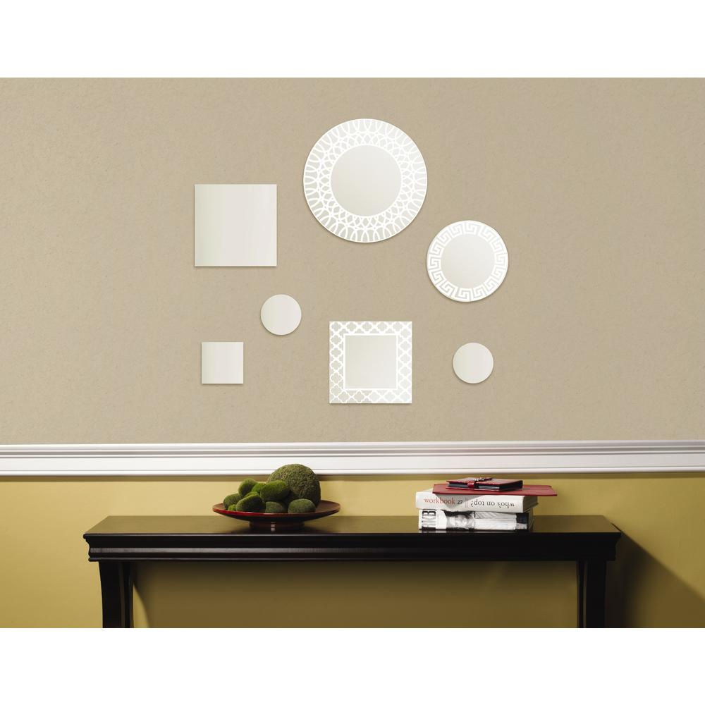 Elements 7-Piece Circle and Square Etched Decorative Wall Mirror ...