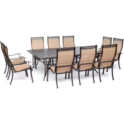 Manor 11-Piece Sling Outdoor Dining Set