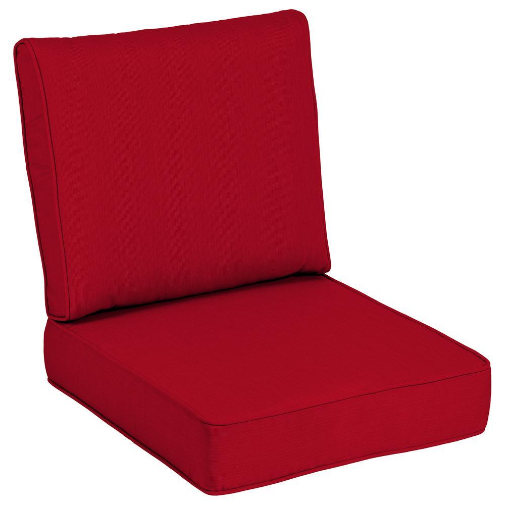 24 x 24 Sunbrella Spectrum Cherry Outdoor Lounge Chair Cushion
