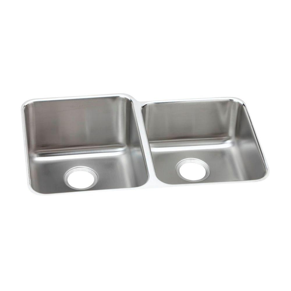 kitchen sinks double drainer elkay lustertone drain undermount stainless steel 6069