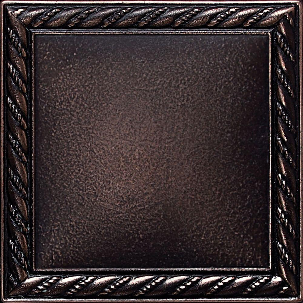 Oil Rubbed Bronze Tile Flooring The Home Depot - Decorative 4x4 metal tiles