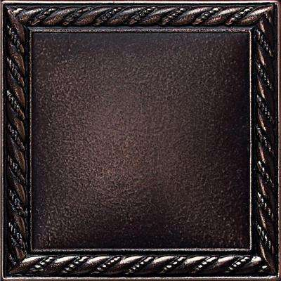 Ion Metals Oil Rubbed Bronze 4-1/4 in. x 4-1/4 in. Composite of Metal Ceramic and Polymer Rope Accent Tile