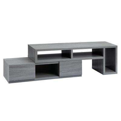 Gray Adjustable TV Stand Console for TV's up to 65 in.