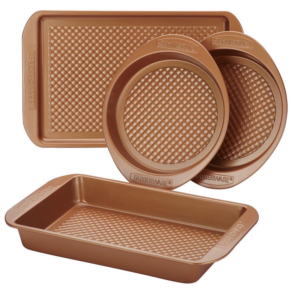 4-Piece Colorvive Nonstick Bakeware Set in Copper