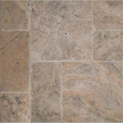 Silver Pattern Honed-Unfilled-Chipped-Brushed Travertine Floor and Wall Tile (5 kits / 80 sq. ft. / pallet)