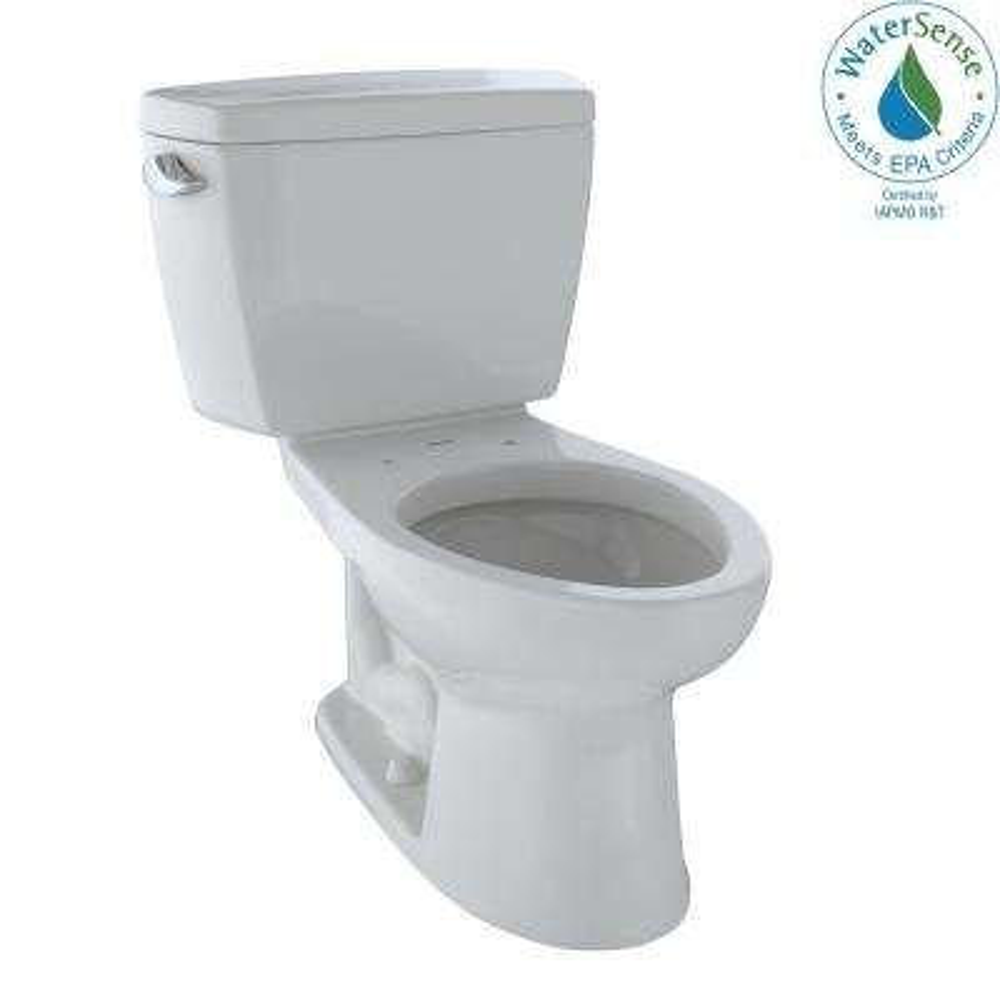 Eco Drake 2-Piece 1.28 GPF Single Flush Elongated Toilet in Sedona Beige