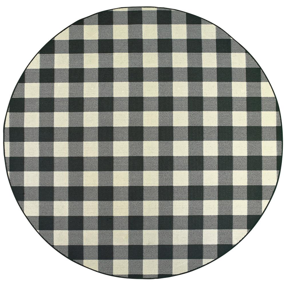 Sienna Buffalo Check Black Ivory 7 Ft 10 In X 7 Ft 10