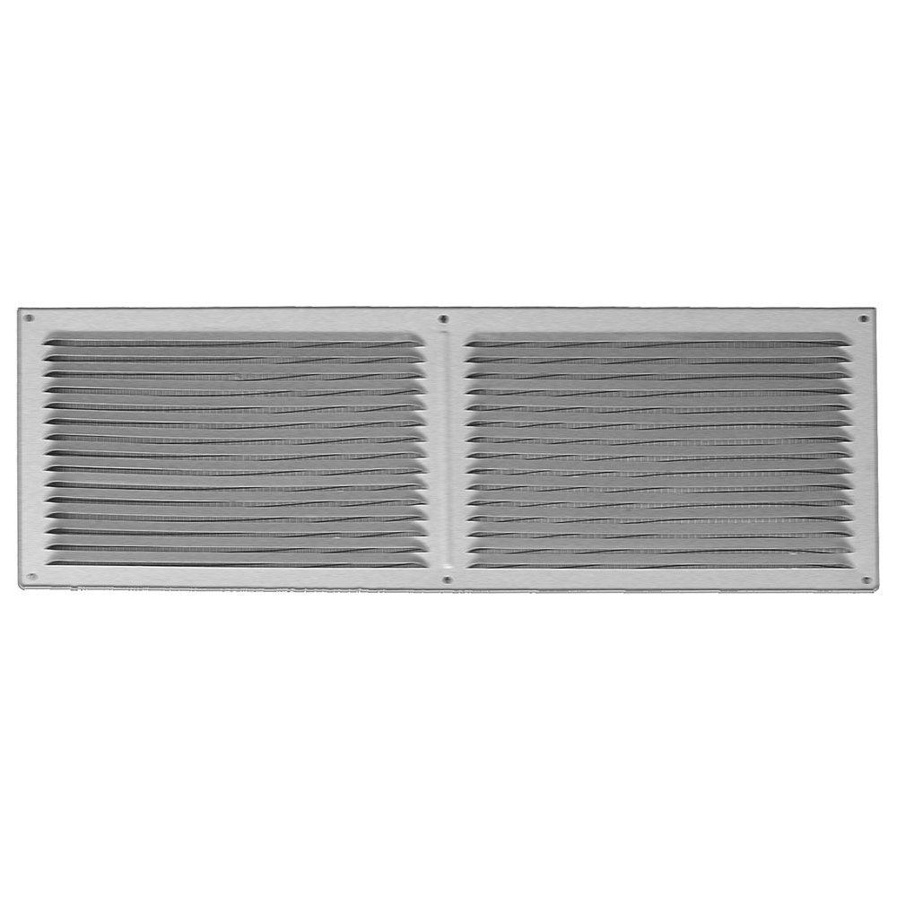 16 in. x 6 in. Galvanized Steel Face-on Louver Vent
