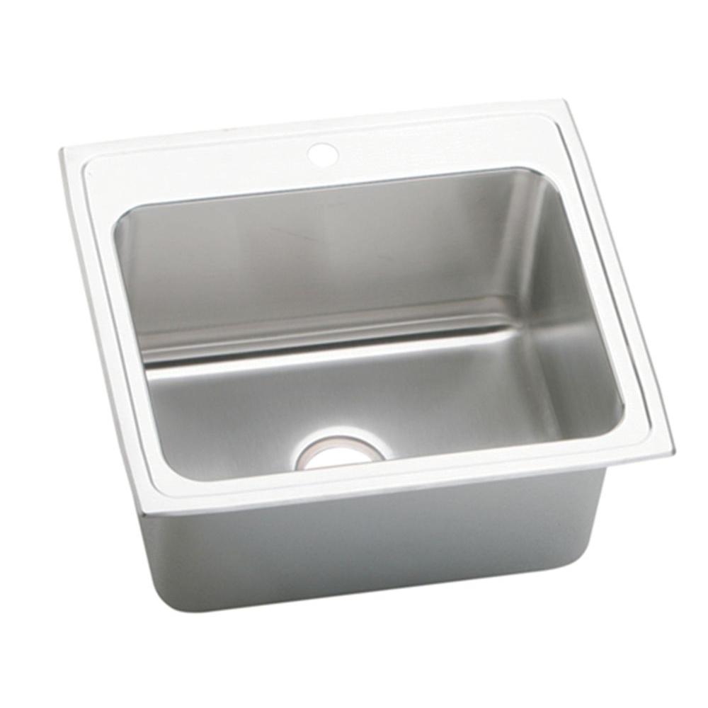 Elkay Lustertone Drop-In Stainless Steel 25 in.x22 in.x10.125 in. 1-Hole Single Bowl Kitchen Sink-DISCONTINUED