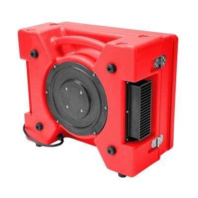 1/3 HP 2.5 Amp HEPA Air Purifier Scrubber for Water Damage Restoration Negative Air Machine, Red