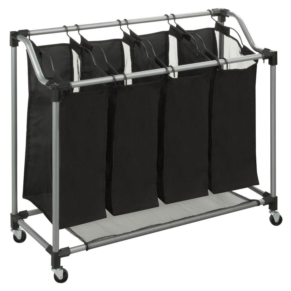Honey Can Do Quad Laundry Sorter With Mesh Bags Steel