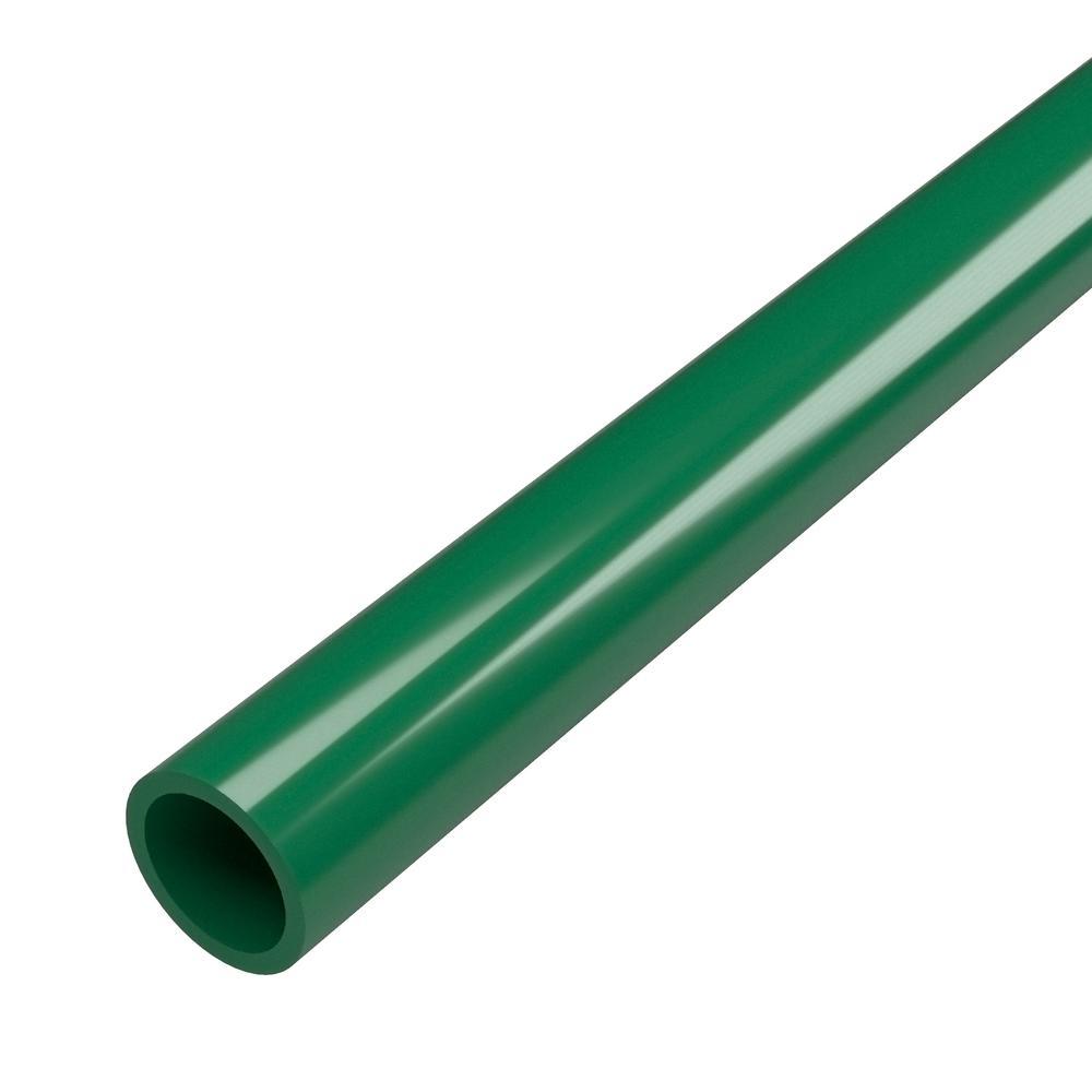 3/4 in. x 5 ft. Furniture Grade Sch. 40 PVC Pipe in Green