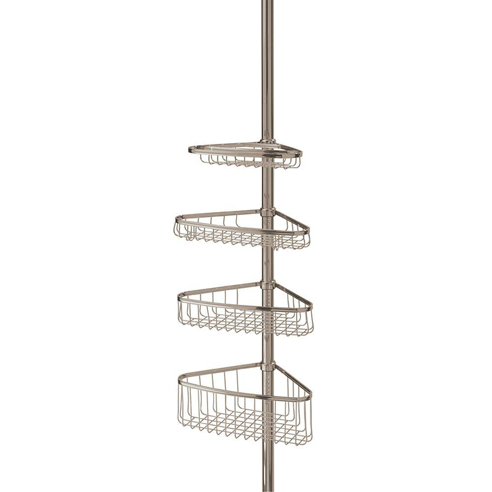 interDesign Morley 4-Shelf Tension-Pole Shower Caddy-01853 - The ...