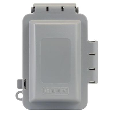 Gray 1-Gang Extra Duty Non-Metallic While-In-Use Weatherproof Horizontal/Vertical Receptacle Cover
