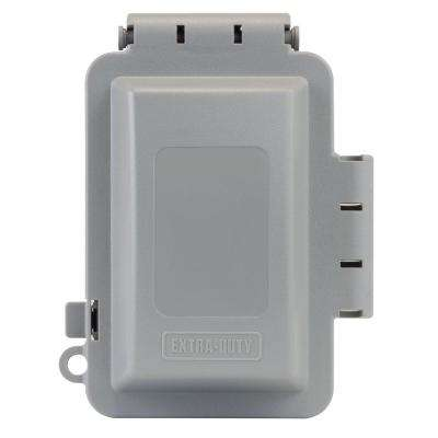 1-Gang Extra Duty Non-Metallic While-In-Use Weatherproof Horizontal/Vertical Receptacle Cover, Gray