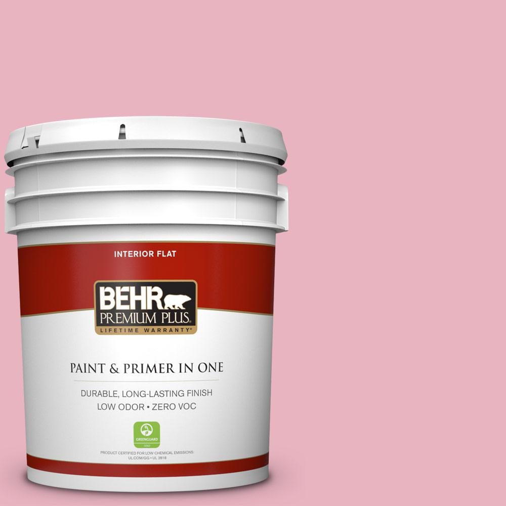 BEHR Premium Plus 5-gal. #110C-2 Colonial Rose Zero VOC Flat Interior Paint