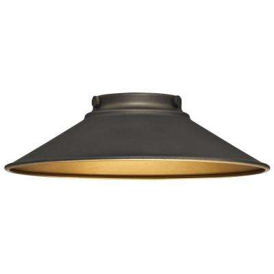 2-9/16 in. Oil Rubbed Bronze and Metallic Bronze Interior Shade with 2-1/4 in. Fitter and 9 in. Width