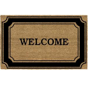 TrafficMASTER Black Border 24 inch x 36 inch Coir Welcome Door Mat by TrafficMASTER