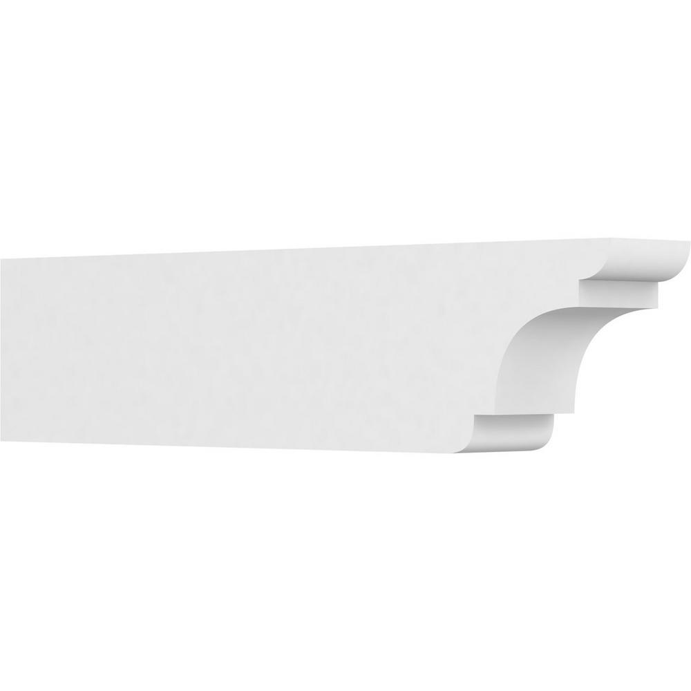 3W X 6H X 12L Ekena Millwork RFTP03X06X12NEB New Brighton Architectural Grade PVC Rafter Tail Unfinished