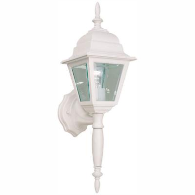 White Outdoor Wall Lantern Sconce